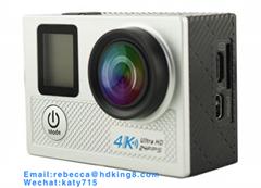 NTK96660两英寸wifi无线运动相机带2.4G RF防水遥控(
