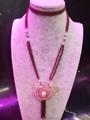 高品質天然莫桑比克石榴石長款毛衣鏈批發時尚手工項鏈飾品 3
