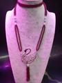 高品质天然莫桑比克石榴石长款毛衣链批发时尚手工项链饰品 4
