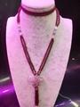 高品质天然莫桑比克石榴石长款毛衣链批发时尚手工项链饰品 5