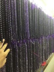 夢幻條紋狗牙紫晶 散珠 手工DIY飾品配件 手鏈 項鏈批發