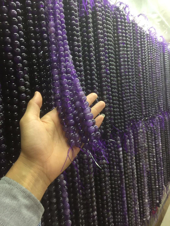 夢幻條紋狗牙紫晶 散珠 手工DIY飾品配件 手鏈 項鏈批發 3