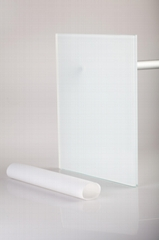Sandblasted white Milky white translucent eva film for laminate decorative gla
