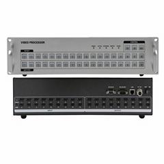 網絡拼接矩陣18進18出HDMI網絡中控矩陣_樂迪信息