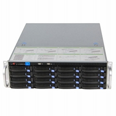 乐迪信息网络存储16盘位流媒体存储服务器