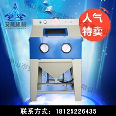 廠家直銷手動噴砂機小型噴砂機干式噴沙機訂做輸送式自動噴砂