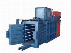 供应稻草稻壳卧式液压打包机