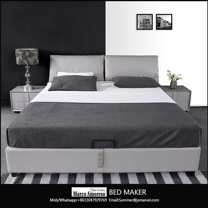 leather bed frame queen home furniture bedroom modern leather bed frame king bed 1