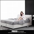 leather bed frame queen home furniture bedroom modern leather bed frame king bed 2