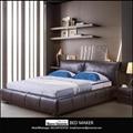 leather bed frame queen home furniture bedroom modern leather bed frame king bed 3