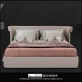 leather bed frame queen home furniture bedroom modern leather bed frame king bed 4