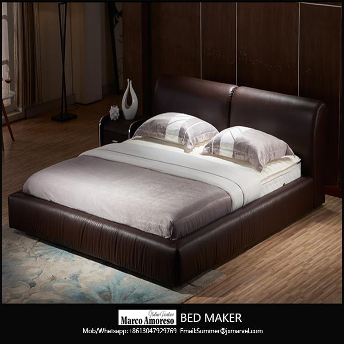 made in china wood frame structure italian leather bed frame modern beds 1