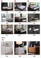 made in china wood frame structure italian leather bed frame modern beds 4