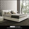 Alibaba wholesale genuine leather bed with storage latest leather bed designs 2