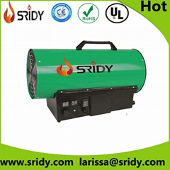 Industrial Fan Gas Heater Electric Workshop Space Propane LPG Power Garage Heat
