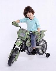 摩托車綠色迷彩