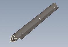 AL6063 - T5异形方管 铝板 铝棒 铝排 铝型材