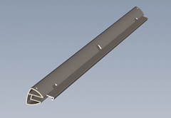 AL6063 - T5異形方管 鋁板 鋁棒 鋁排 鋁型材