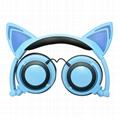 cat ear cartoon children light earphone headphone for mobile 1
