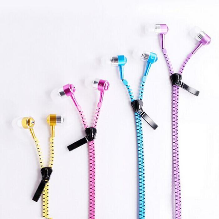 fashion style universal zipper earphone for all mobile phones 1