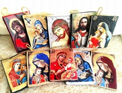 Holy Mary and Jesus Rosary Pouch icon Case Purse Wallet  rosaries bag