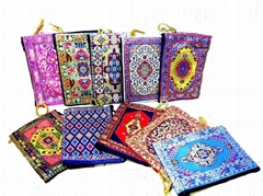Turkish Coin Purse Kilim Bag rug carpet pattern zippered coin purse pouch