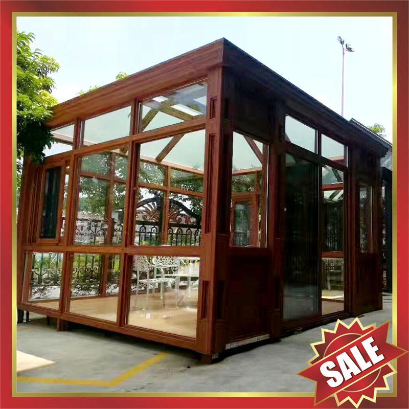 Prefabricated aluminium alloy glass house sunroom for for Prefab glass house prices