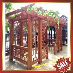 豪華中式仿古仿木園林金屬鋁合金鋁制遮陽擋雨防晒葡萄架葡萄藤架