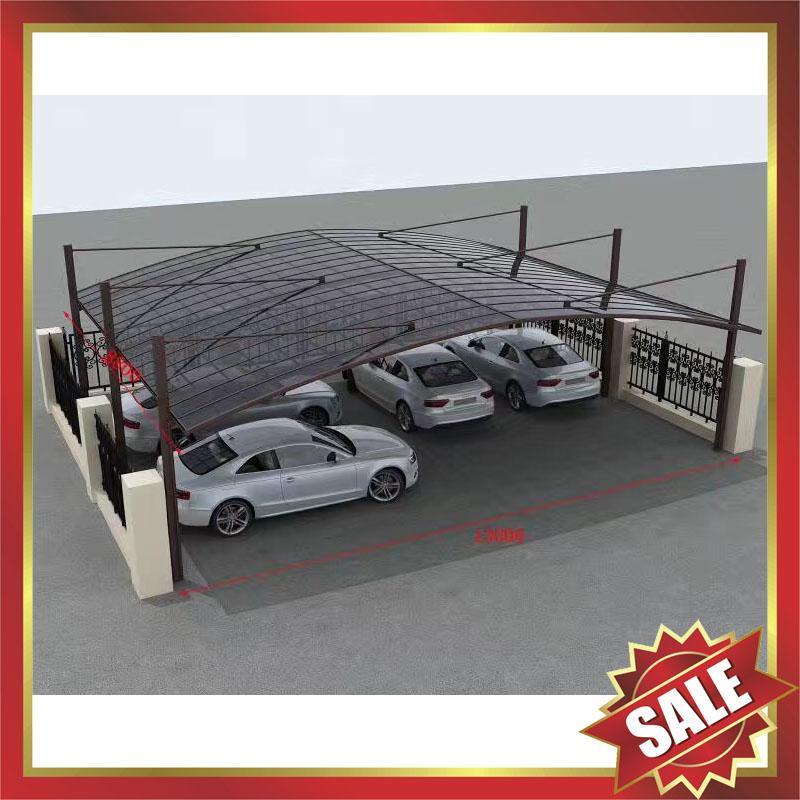 public rain sunshade aluminium alloy pc carport for house and villa 1