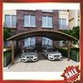 public rain sunshade aluminium alloy pc carport for house and villa 4