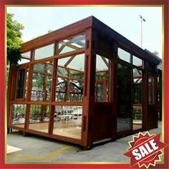 prefab modern fashion aluminium alloy tempered glass sunroom