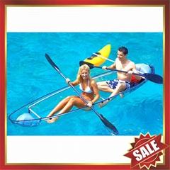 sailing sightseeing polycarbonate transparent kayak