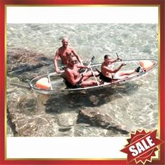 small crystal clear pc canoe kayak boat yacht