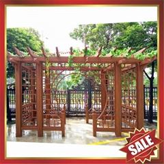 高級定製歐式中式仿古園林金屬鋁合金遮陽擋雨防晒葡萄架葡萄藤架
