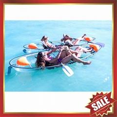transparent two seats polycarbonate sailing sightseeing canoe kayak boat yacht