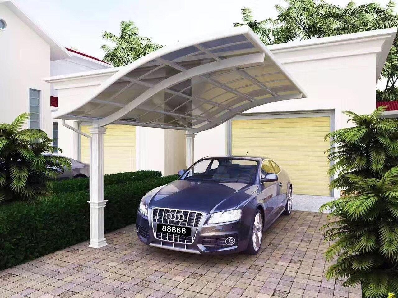 outdoor polycarbonate aluminum carport