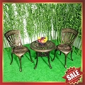 USA hot selling outdoor garden cast aluminum chair table