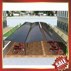 美觀耐用公共大型聚碳酸酯PC金屬鋁合金車棚自行車棚單車棚車篷