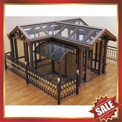 beautiful garden aluminum alloy tempered glass sunny room sunroom house sunhouse