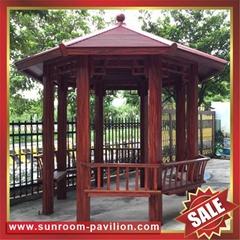 铝合金铝制金属仿木纹公园园林遮阳雨休闲作息乘凉亭子