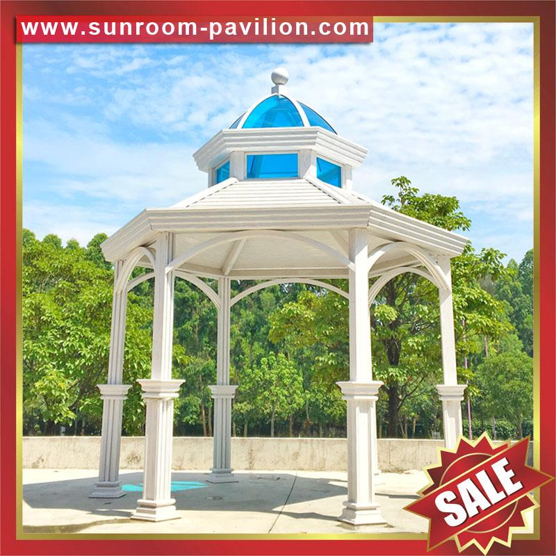 garden outdoor wood look alu aluminum metal gazebo pavilion china