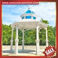 outdoor garden wood look aluminum metal gazebo pavilion pagoda gloriette 4