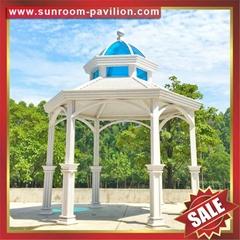 高级定制中式西式仿古公园园林铝合金金属铝制凉亭遮阳挡雨乘凉亭