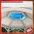 Prefabricated french european american metal aluminum pavilion for garden villa 4