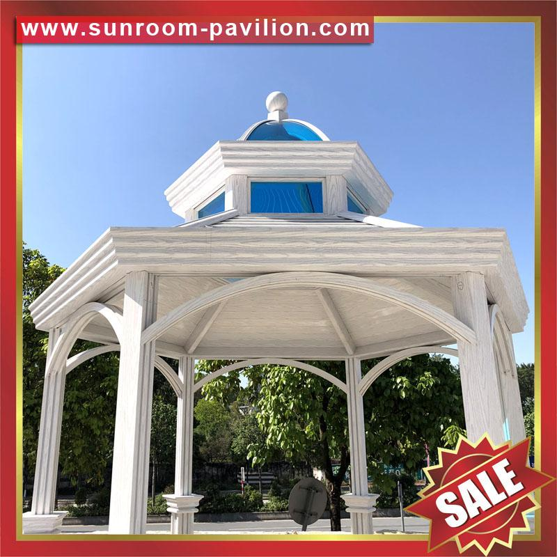 Prefabricated french european american metal aluminum pavilion for garden villa 2