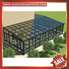 高级定制安全耐用别墅透明玻璃金属铝合金铝制露台阳光房子温室屋
