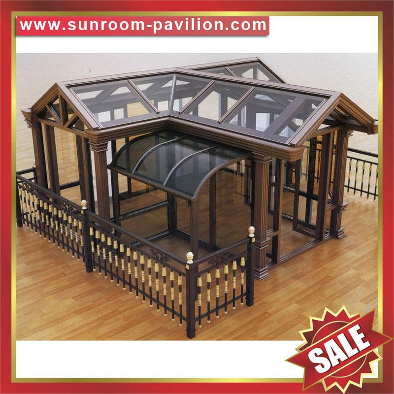 Beautiful Modern Garden Sunroom Kits Glass House Cabin Cabinet Hut