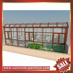 供應優質耐用露台陽台天臺鋁合金玻璃陽光房遮陽棚廣東廠家