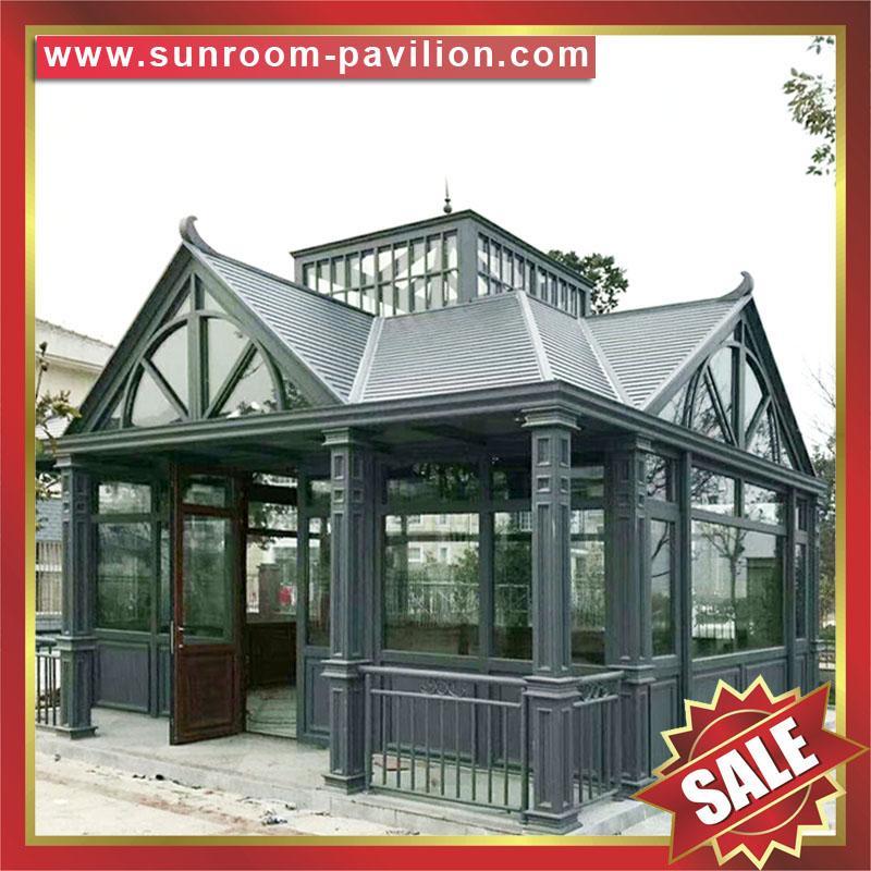 outdoor garden gazebo patio aluminum glass sun room sunroom house enclosure 6