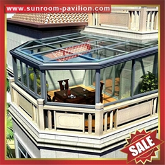 西式歐式羅馬防風擋雨隔音陽台露台透光平頂陽光房溫室屋